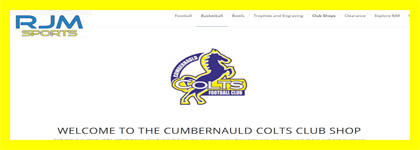 Cumbernauld Colts Club Shop
